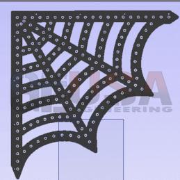 HDPE Corner Web | Gilbert Engineering Props