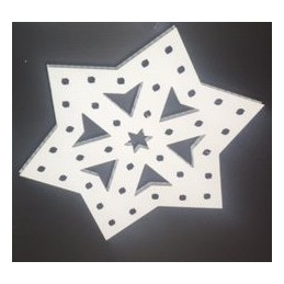 ChromaFlakes 16inch Star Shaped (36 nodes) | Snowflakes
