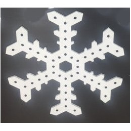 ChromaFlakes 24inch 2 Prong Fancy (48 nodes) | Snowflakes