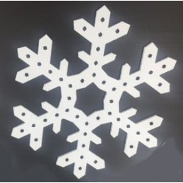 ChromaFlakes 24inch 3 Prong Fancy (48 nodes) | Snowflakes