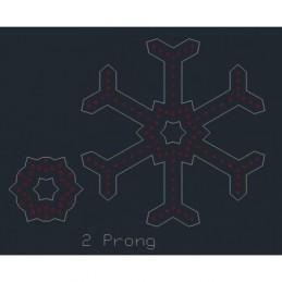 ChromaFlakes 36inch 2 Prong (96 nodes) | Snowflakes