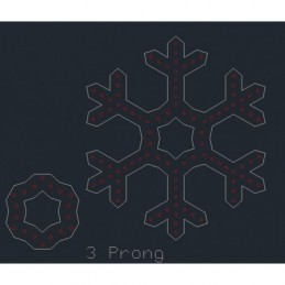 ChromaFlakes 36inch 3 Prong (96 nodes)