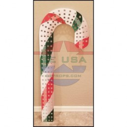 IMPRESSION Candy Cane - 3' Left Hook - Red/Green/White | Gilbert Engineering Props